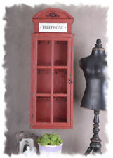 English Phone Booth Key Box with 12 Hook Key Closet Union Jack