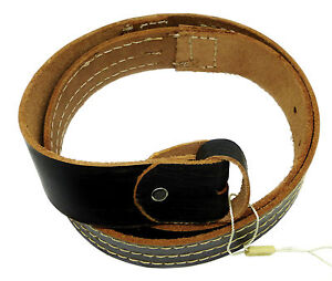 100% Real Black Leather Buckle Belt Strap Size S M L XL XXL Ideal For Buckles