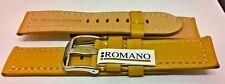Italiano ROMANO cuero reloj correa 22 mm 24 mm MOSTAZA