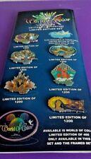 DLR- WORLD OF COLOR 2010 - COLLECTORS PIN SET POCAHONTAS SCAR ALICE LE 300 SETS