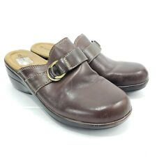 Naturalizer Women's Clog Mules Size 7 Brown Leather Slip On