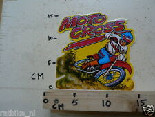 STICKER,DECAL YAMAHA MOTOCROSS NO 1 LARGE NOS NEW OLD STOCK