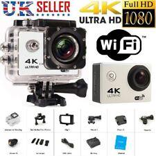 Cámara de acción 4K bajo el agua Impermeable Cubre Casco Cam 4K 2.4G Wifi 12MP Reino Unido