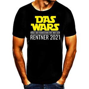 Rentner 2021 Spruch Geschenk Print Tshirt T- Shirt Herren