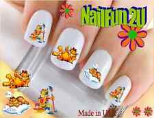 "Nail Art #549 ""Character Cat Funny Paint"" WaterSlide Nail Decals Transfers"