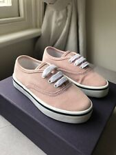 PRADA Girls Baby Pink Summer Canvas Lace Up Trainers Shoes EU 25 UK 8 / 7