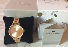 Olivia Burton Gran Dial Dorado Reloj de señoras de NUEVO