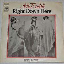 "ASHA PUTHLI Right Down Here 7"" German CBS Soul Funk 45 1974 RARE"