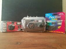 3 Vintage Camera Lot- One time use & Waterproof Camera