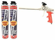3er Set 1k Pistolenschaum TOPFLEX Montageschaum Flex-Schaum Made in Germany