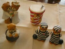Lot of 5 Enesco Lucy & Me Bears~Wedding~2 Prisoners of Love~Oreo~Milk Shake