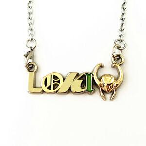 Loki Logo with Helmet Necklace Marvel, Variant, Loki Gator,