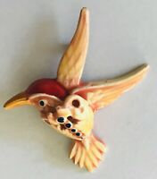 Hummingbird In Flight Pin Badge Rare Vintage (L46)