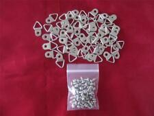 PACK OF 50 SMALL SILVER TONE D-RINGS - PICTURE FRAMING