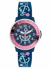 s.Oliver Reloj de niños Reloj Niña SO-3497 PQ Impresiones Reloj de pulsera Ancla