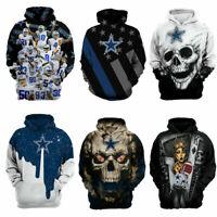 Newest Dallas Cowboys Hoodie Football Hooded Sweatshirt Sports Jacket Fan's Gift