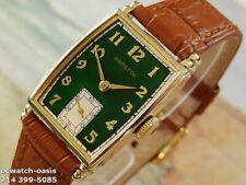 1941 Vintage HAMILTON MYRON, Stunning Green Dial, Serviced, 1 Year warranty