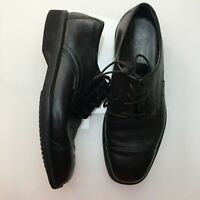 Mephisto Black Leather Lace Up Oxford Dress Shoes Mens Size 9.5 EUR 9
