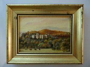 Miniature Painting of Dunster Castle - Framed and Signed