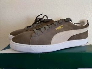 Puma Suede Classic Steeple Gray and White Mens Casual Skate Shoes Size 10 US NEW