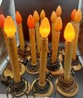 Vintage LOT of 14 Novelite Brand Electric Lighted Candles Christmas Decorations