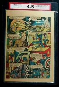 All Winners Comics #4 CPA 4.5 SINGLE PAGE #17/18 Captain America Timely Comics