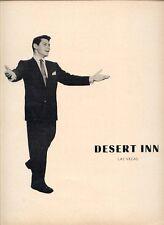 "1959 RARE ""EDDIE FISHER AT THE DESERT INN, LAS VEGAS"" PR AD"