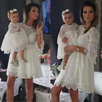 Mother and Daughter Clothes Parent-child dress Family Matching Outfits Baby Girl