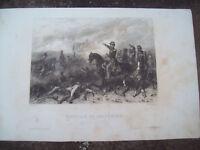 1859 111) RISORGIMENTO: INCISIONE ANIMATA BATTAGLIA DI SOLFERINO DEL 24 GIUGNO