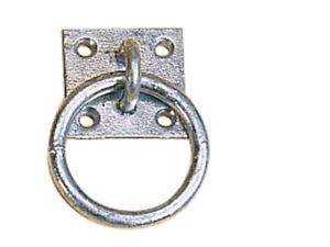4 x Galvanised Tie Ring Horse Stable Haynet Lashing Ring Equestrian FREE P&P