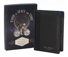 Ted Baker Passport Travel Wallet and Pen - Black Brogue - New in Box