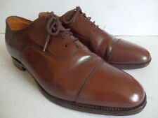 "Church's Custom Grade ""Balmoral"" brown laced shoes Made in England size 8.5 G"