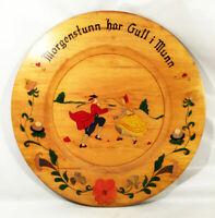 Vintage Rosemaling. Norwegian folk art. Signed 1949 Helen Hill. Man and woman.