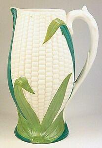 Antique Victorian Parian Jug Corn on the Cob by JAMES ELLIS SON Circa 1860