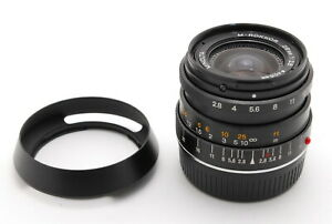 [EXC+++++ / HOOD] Minolta M-Rokkor 28mm f/2.8 Lens For CL CLE Leica M From JAPAN