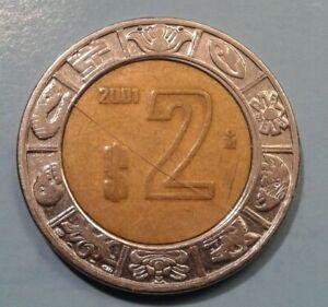 Mexico 2 Pesos coin 2001