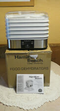 Hamilton Beach Rectangular Digital FOOD DEHYDRATOR 5 Trays 2 Sheets #32100A NICE