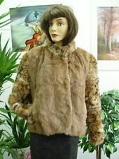 *BRAND NEW SQUIRREL & MONTANA LYNX FUR JACKET COAT WOMEN WOMAN SIZE 10-12 MEDIUM