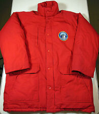 Vtg. Red Society Expeditions Antarctica Patch Coat/Jacket Sz. L. Free Shipping !