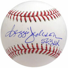 "Reggie Jackson Autographed Official Mlb Baseball Yankees ""563 Hr"" Beckett 161459"