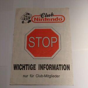 Club Nintendo Information / Gutscheinheft