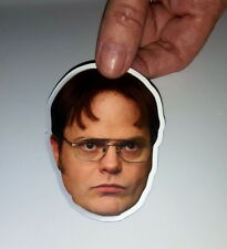 Die Cut Dwight Schrute The Office TV Show Face magnet 3X2 inches