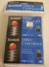 Scotch 2 pack VHS-C Camcorder Professional Quality TC-30 30 min VHS