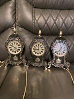 Vintage Westclox Black Electric Mantel Clock Neuchatel S39-B w/Pendulum- Works!
