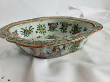 """Superb antique chinese famille rose bowl, 8"""", detailed"""