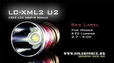Solarforce Cree XM-L2 U2 670 Lumens 5 Mode Led Bulb 2.7V-9V for Surefire 6P G2