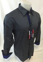Mens HOUSE of LORDS Designer Woven Dress Shirt Geometric Diamonds Cotton 2019