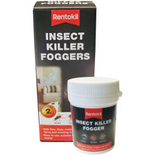 2x Rentokil Bed Bug Bomb Smoke Poison Foggers Bedbug Fleas Moths Insect Killer