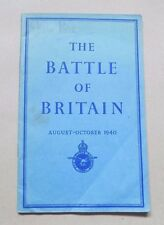 The Battle of Britain (WWII) An Air Ministry Account 1941