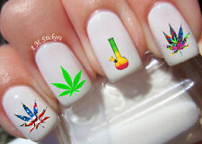 Marijuana Nail Art Stickers Transfers Decals Set of 40
